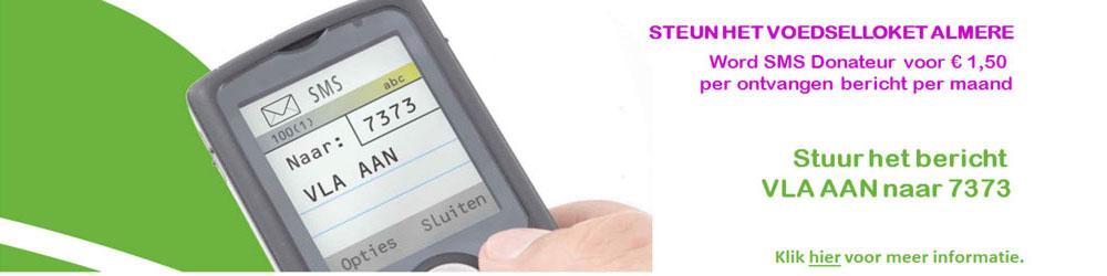 Slider SMS actie